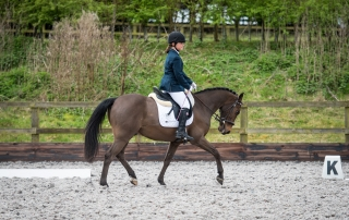 Libby Hart competing at Boston Hall dressage competition