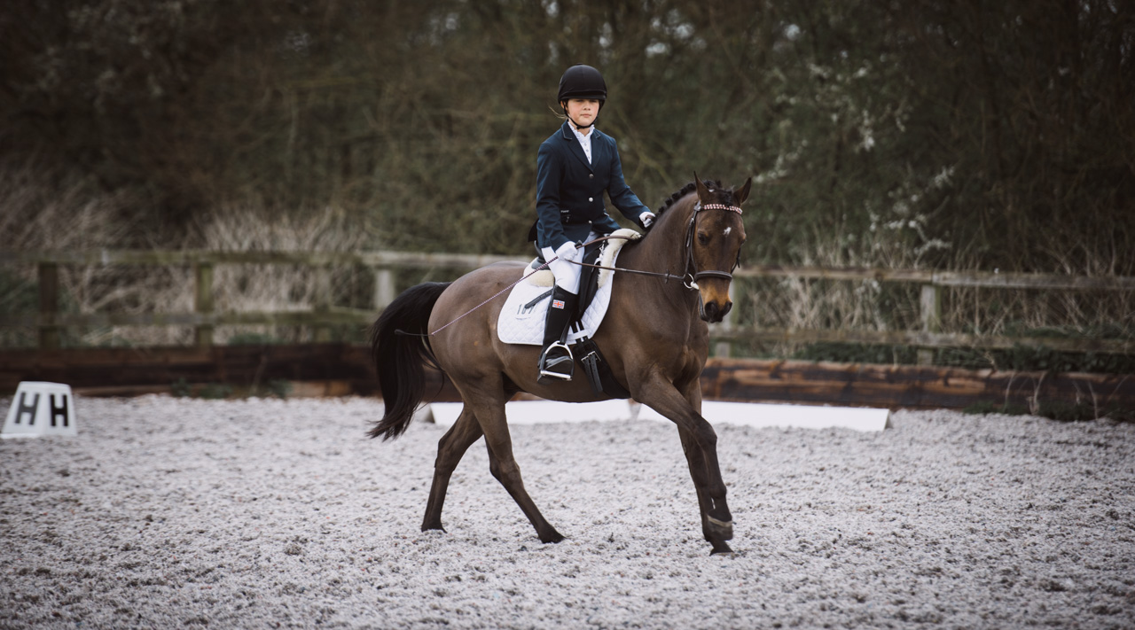 Libby competing at Boyton HallHall